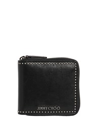 Jimmy Choo Micro Studded Leather Zip Around Wallet