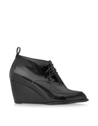 Robert Clergerie Orso Black Patent Leather Wedge Bootie