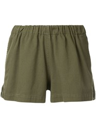 Bassike Elasticated Waist Shorts Green