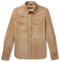 Tom Ford Suede Shirt Jacket Brown