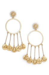 Vince Camuto Circle Charm Drop Earrings Gold