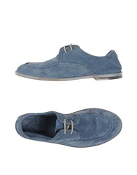 Armando Cabral Lace Up Shoes Slate Blue