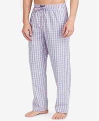 Polo Ralph Lauren Men's Blue And Green Check Woven Pajama Pants Allen Plaid