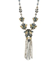 Lonna And Lilly Epoxy Abalone Crystal Necklace Green