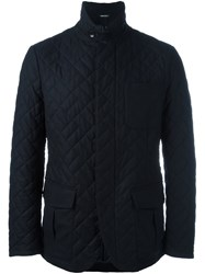 Giorgio Armani Quilted Jacket Blue
