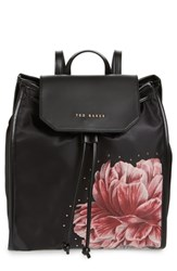 Ted Baker London Iberiis Tranquility Print Backpack Black