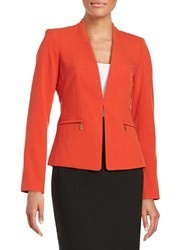Calvin Klein Zip Pocket Knit Blazer Spicy Orange
