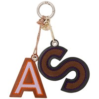 Acne Studios Brown And Purple Letters Keychain