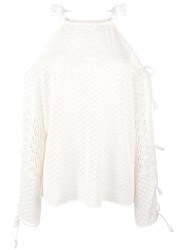 See By Chloe Crochet Knit Jumper Nude Neutrals