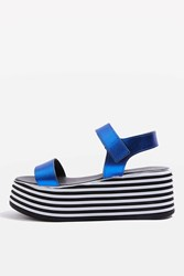 Topshop Wobble Wedges Blue
