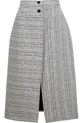 Carven Fantaisie Textured Jacquard Midi Skirt Black