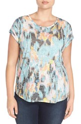 Plus Size Women's Two By Vince Camuto 'Blurry Dreamland' Roll Sleeve Tee