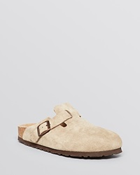 Birkenstock Flat Clogs Boston Taupe
