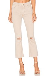 Mother The Insider Crop Fray Blow By Blow Khaki