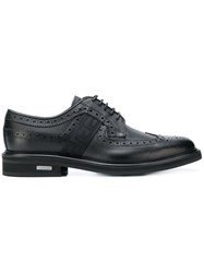 Versace Greek Key Brogues Black