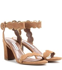 Tabitha Simmons Cloud Suede Sandals Brown