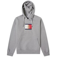 Tommy Jeans Flag Crest Logo Hoody Grey