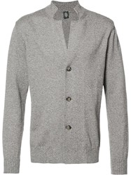 Eleventy V Neck Buttoned Cardigan Brown
