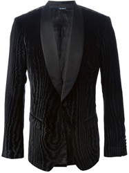 Dolce And Gabbana Velour Dinner Jacket Black