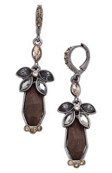 Women's Givenchy Crystal And Wood Drop Earrings