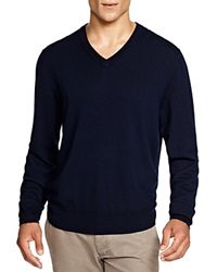 Brooks Brothers Wool V Neck Sweater Navy