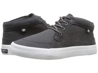 Sperry Crest Knoll Canvas Dark Grey Women's Lace Up Casual Shoes Gray