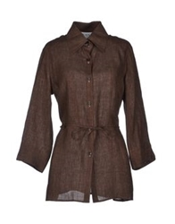 Diana Gallesi Shirts Dark Brown