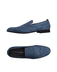 Bruno Bordese Footwear Moccasins Men Slate Blue