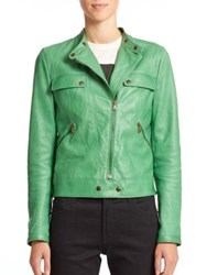 Tomas Maier Nappa Leather Moto Jacket