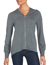 Candc California Swing Heathered Hooded Jacket Heather Grey