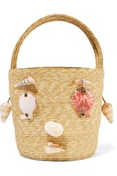 Rosie Assoulin Embellished Woven Straw Tote Sand Usd