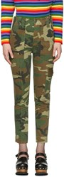 Marc Jacobs Green Camo Cargo Trousers