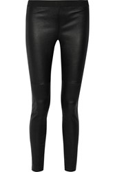 10 Crosby By Derek Lam Stretch Leather Leggings Black