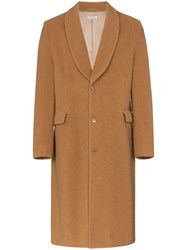 Our Legacy Shawl Contour Wool Coat Neutrals
