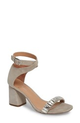 Linea Paolo Harlow Ankle Strap Sandal Dove Suede