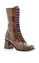 Tomas Maier Glossy Leather Boot Brown