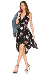 Band Of Gypsies Floral Hanky Wrap Dress Black