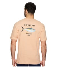 Quiksilver Waterman Golder Session Short Sleeve Tee Dusty Coral T Shirt White