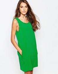 See U Soon Shift Dress With Lacing Detail And Pockets Green