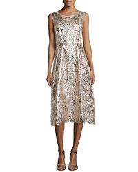 Kay Unger New York Lace Sequin And Beaded Cocktail Dress