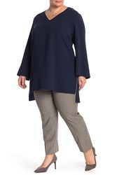 Lafayette 148 New York Jazlene Long Tunic Plus Size Armada