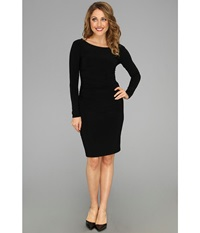 Kamalikulture By Norma Kamali L S Shirred Waist Dress Black Women's Dress