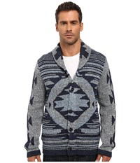 Lucky Brand Ladder Back Jaquard Shawl Cardigan Multi Men's Sweater