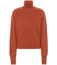 Chloe Cashmere Turtleneck Sweater Brown