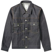 Visvim 101 Unwashed Jacket Blue