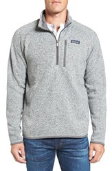 Patagonia Men's 'Better Sweater' Quarter Zip Pullover Stonewash