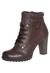 Tom Tailor Laceup Boots Brown