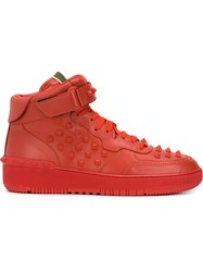 Valentino Garavani 'Rockstud' Hi Top Sneakers Red