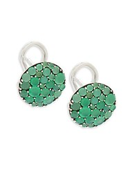 Stephen Dweck Pebbled Chrysoprase Earrings Silver