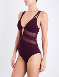 Jets By Jessika Allen Aspire Plunge Swimsuit Claret